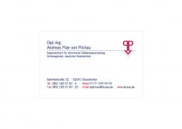 Ingenieurbüro Pilar von Pilchau Visitenkarte