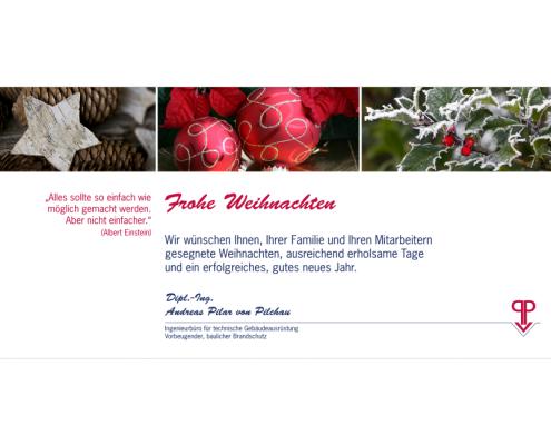 Ingenieurbüro Pilar von Pilchau Weihnachtskarte