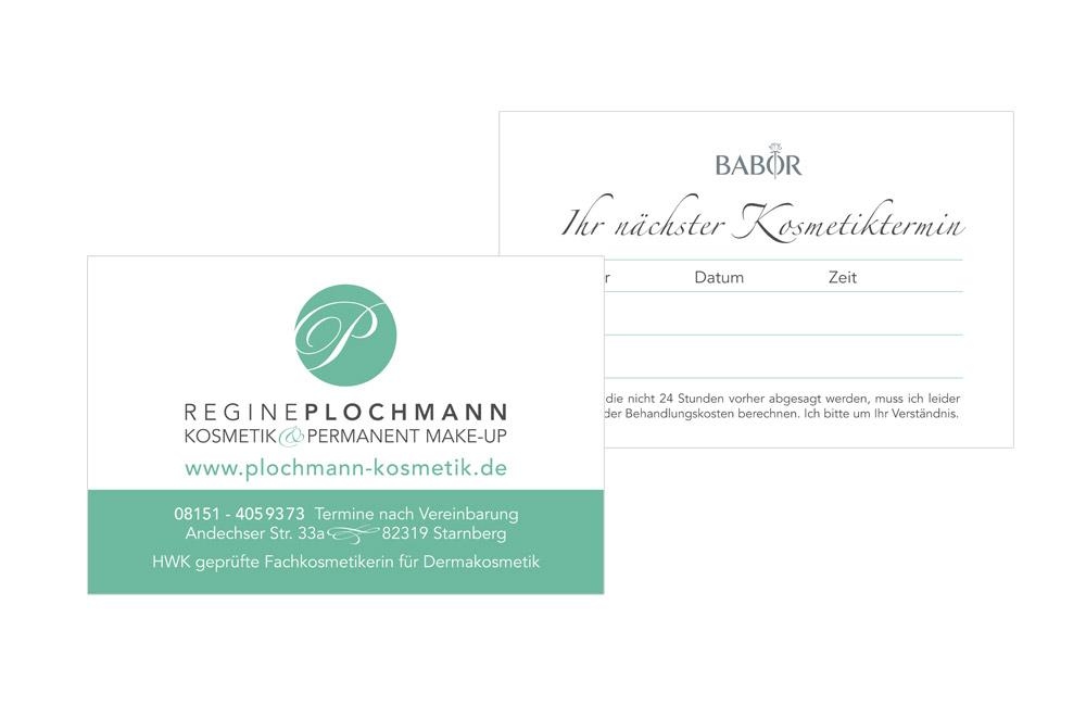 Visitenkarten Kosmetik Starnberg   konzeptonline Ihre Grafikagentur