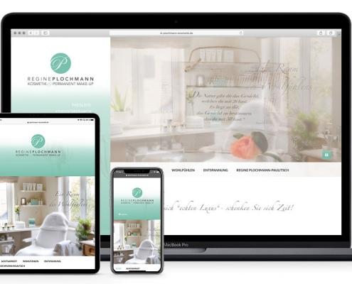 responsive Homepage Kosmetikstudio Plochmann