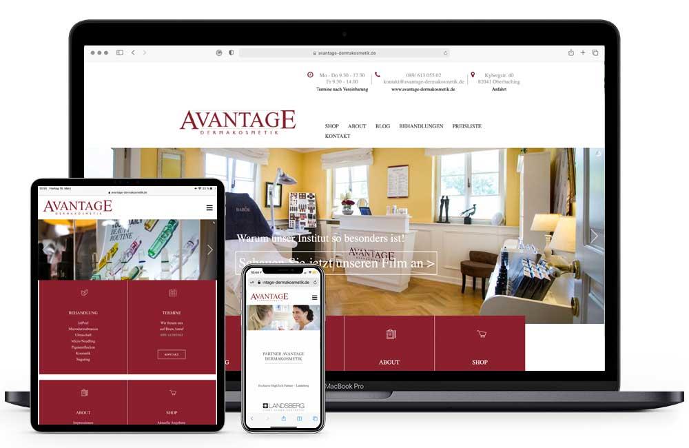 AVANTAGE DERMAKOSMETIK Homepage