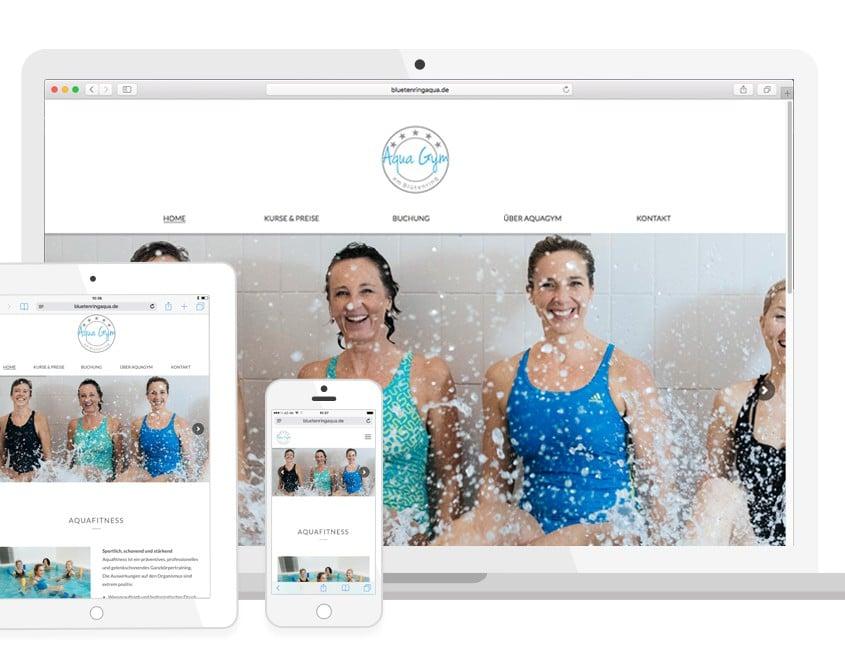 Aqua Gym | Homepage optimiert für mobile Endgeräte