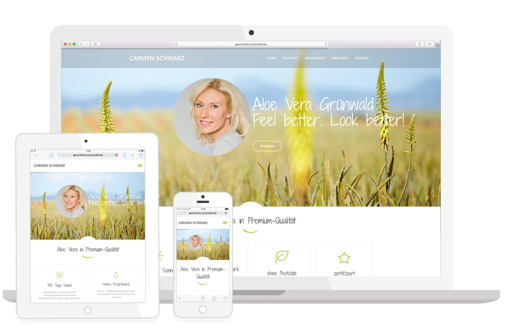 Gesundheit Grünwald Homepage responsive