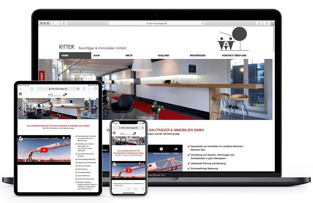RITTER Bauträger & Immobilien GmbH Oberhaching Homepage