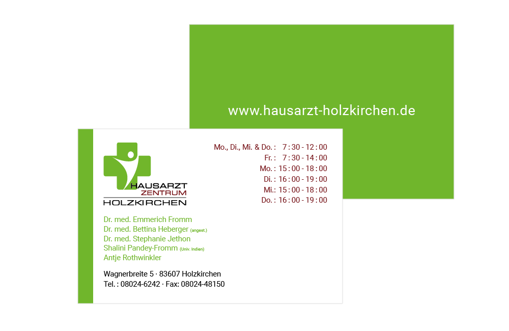 Visitenkarte Hausarztzentrum-Holzkirchen